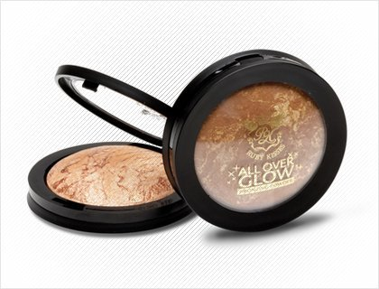 Ruby Kisses ALL OVER GLOW Bronzing Powder .32oz ABP01 LIGHT GLOW - 3pck with free nail file
