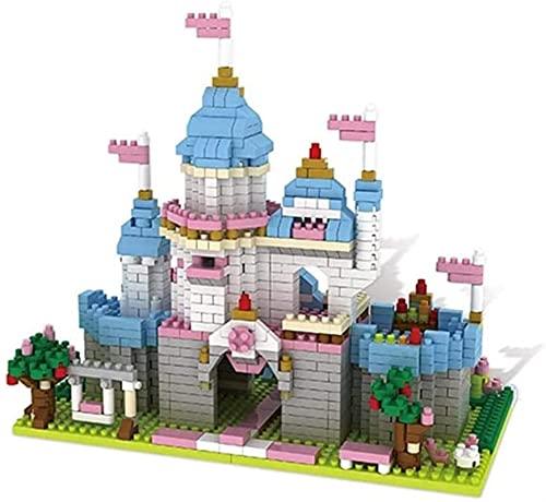 aolongwl Bloques de Construcción Bloques de construcción del Castillo, fantasía Bricolaje Mini Licks Architecture Model Kit Micro Micro Diamond Kit para niños, Regalo de cumpleaños, (1048pcs)
