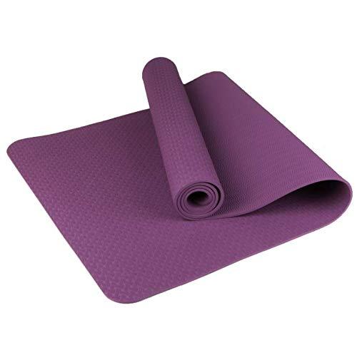 NAXIAOTIAO TPE Yogamatte dünner Abschnitt doppelseitig Rutschfeste Anfänger-Fitnessmatte Yogamatte umweltfreundlich und geschmacklos,Purple