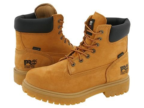 Timberland PRO  Direct Attach 6 Steel Toe (Wheat Nubuck Leather) Mens Work Lace-up Boots