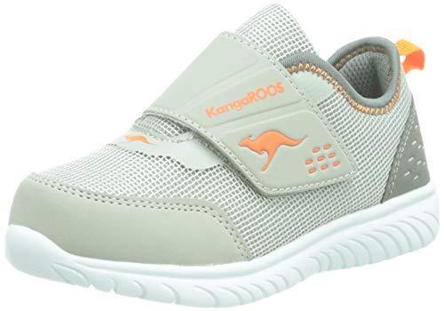 KangaROOS Jungen Unisex Kinder KI-Dinky V Sneaker, Steel Grey/Neon Orange 2125, 29 EU