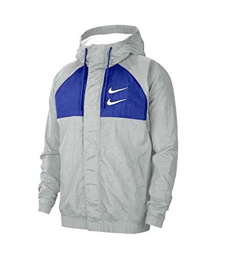 Nike Swoosh heren windjack van grijze stof CJ4888-073