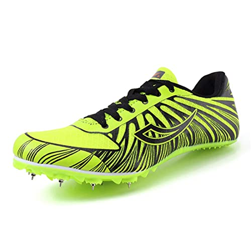 Calzado De Atletismo Sprint Spikes Calzado De Carreras Calzado De Entrenamiento De Competición Calzado para Correr De Larga Distancia para Hombres Y Mujeres,Verde,38 EU