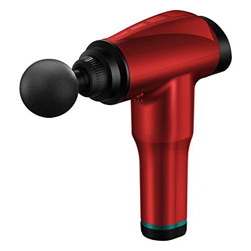 Sports Fitness Fascia Gun Electric Depth Relief Muscle Relaxer Massager Massage Gun-Rose Red_32 Gear LCD Touch Screen