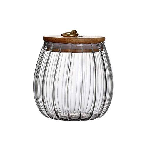 Tarro de vidrio para almacenamiento de alimentos de 750ml recipiente de vidrio transparente con cierre hermético tapas de madera de acacia para granos de café especias galletas aperitivos dulces