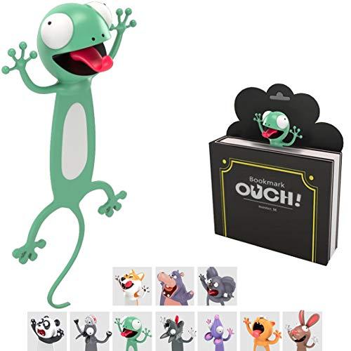 KXT Witzige 3D Cartoon Tier-Lesezeichen - Lustiges Geschenk für Kinder und Erwachsene (Gecko)