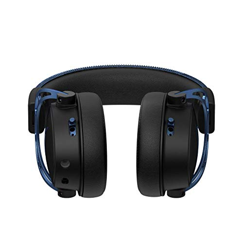 HyperX Cloud Alpha S - PC Gaming Headset, 7.1 Surround Sound, Adjustable Bass, Dual Chamber Drivers, Chat Mixer, Breathable Leatherette, Memory Foam, and Noise Cancelling Microphone - Blue (Renewed)