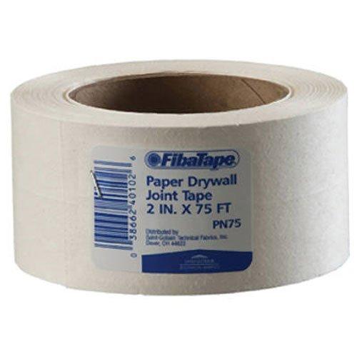 Saint-Gobain ADFORS FDW6620-U FibaTape Paper Drywall Joint Tape 2-Inch x 75-Feet, White