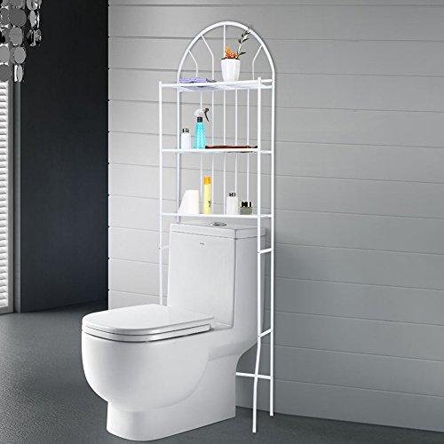 SKIESOAR - Estantes de baño para lavadoras de Inodoro, 3 estantes de baño Sobre el Inodoro