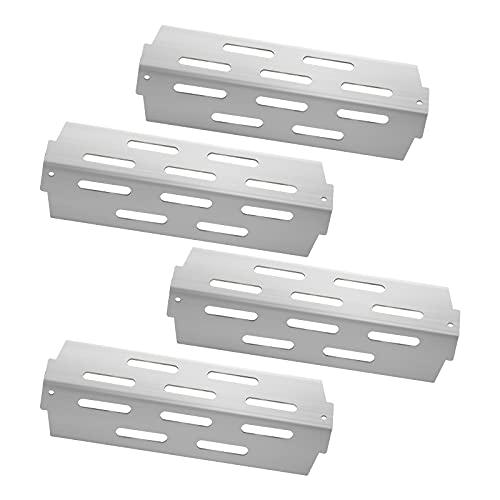 Kalomo Grill Heat Plates Shield Heat Deflector BBQ Gas Grill Replacement Parts Accessories for Weber Genesis II E-410, Genesis II S-410, Genesis II LX E-440, Genesis II LX S-440 Grill Models, 4-Pack
