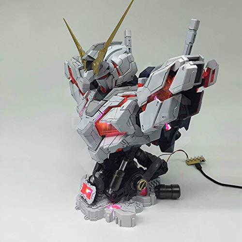 Bosi General Merchandise Gundam, Einhorn, Büstenmodell, 1:35, beleuchtetes Spielzeug, LEDModelle, maßstabsgetreue Modelle, PVC, Sammlermodelle, Spielzeuggeschenke