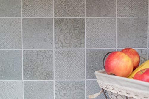 Keramik Mosaik Fliese Retro Vintage grau für WAND BAD WC DUSCHE KÜCHE FLIESENSPIEGEL THEKENVERKLEIDUNG BADEWANNENVERKLEIDUNG WB22-CELLO