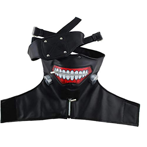 Wilk 1set 3D Tokyo Ghoul Kaneki Ken Cosplay Maske Mit Augenklappe Kühler Partei-Masken-Halloween-kostüm-Partei-Dekorationen Requisiten Für Mann Und Frauen (schwarz)