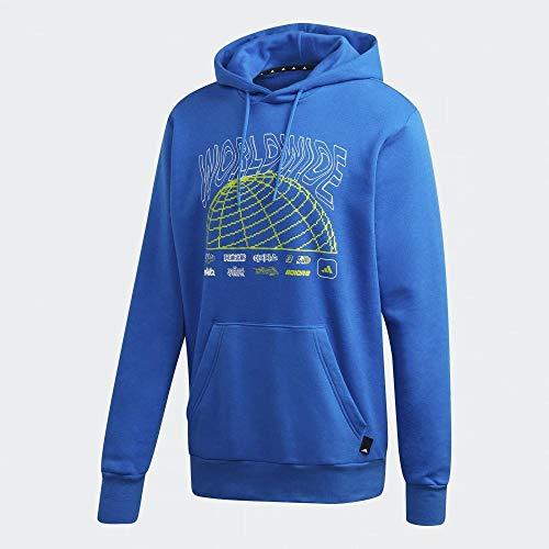 adidas M Pack Po Hooc Sudadera, Hombre, Azul/Blanco, S