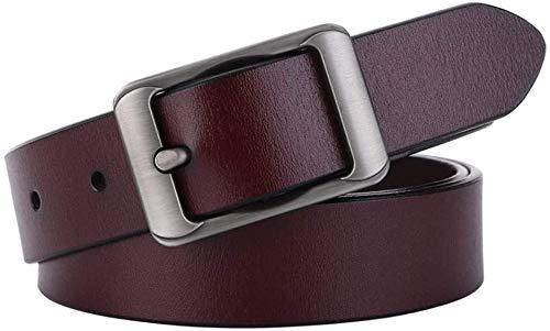 Riemen Women Waist Belt Women Skinny Riem for Jurken Retro Stretch dames riem Leather Strakke Ladies Belt Belt Dress Exquisite en elegante (Kleur: Zwart, Maat: 115cm) (Color : Coffe, Size : 110cm)
