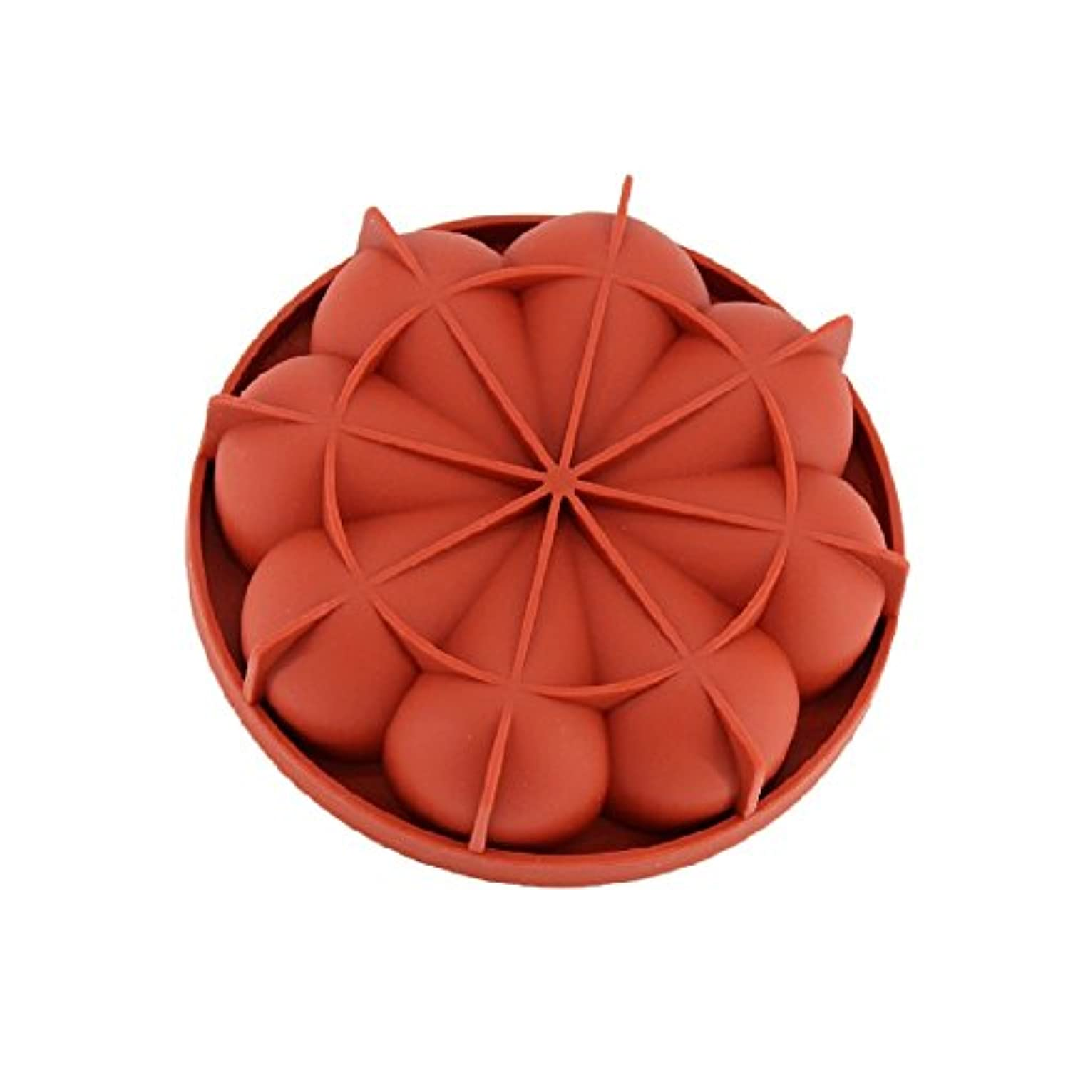 New Arrival Wine Red Silicone 3D Irregular Petals Shape Mold for Mousse Cake Pudding Ice Cream Bread Brownie Bakeware Tools