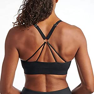 PUMA Women's Women's Lace Up Bra Bra, Black, XL