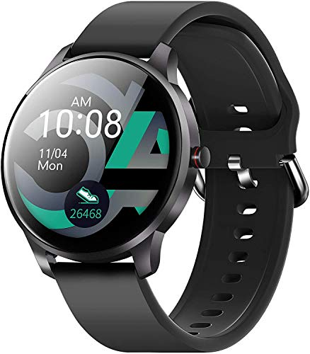 Smart Watch for Android iOS Phones Compatible with iPhone Samsung, CUBOT W03 IP68 Waterproof Fitness Tracker Smartwatch for Men Women Heart Rate Monitor Pedometer Sleep Monitor,Blue