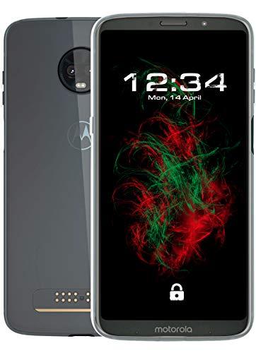 Baluum TPU Transparent Crystal Clear Hülle für Motorola Moto Z3 Play Schutzhülle Durchsichtig Hülle Cover Klare Handyhülle Backcover Silikonhülle (TPU-T, Crystal Clear)