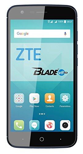 ZTE Blade V8 Lite - Smartphone Libre de 5' (4G, Octa-Core 1.5GHz, 2 GB RAM, Almacenamiento Interno de 16 GB, Bluetooth, WiFi, Android) Color Azul Oscuro