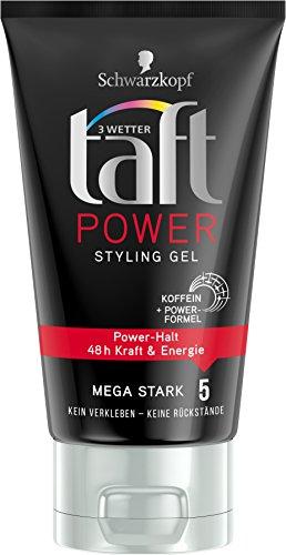 Schwarzkopf 3 Wetter Taft Power Gel, Styling Mega Starker Halt 5, 5er Pack (5 x 150 ml)
