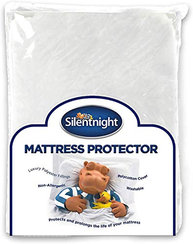 Silentnight Quilted Mattress Protector Plus, White, Single