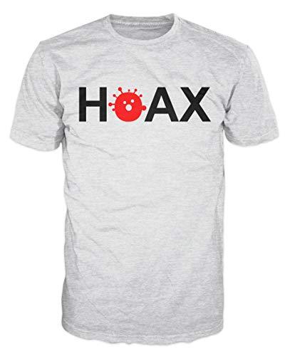 Dalesbury Hoax Conspiracy 2020 T-Shirt (L, Ash Grey)