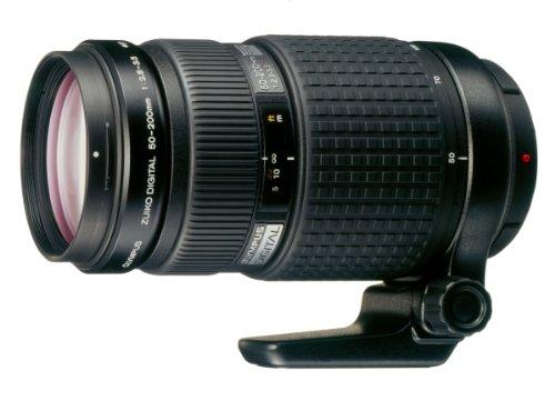Olympus 50-200 mm f/2.8-3.5 ED Zuiko Digital - Objetivo para Cuatro tercios (Distancia Focal 50-200mm, Apertura f/2.8) Color Negro