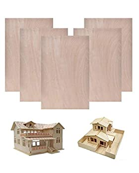 Basswood Sheets 1/16,Thin Plywood Wood Sheets for Crafts 1/16 ×8×12 Inch,5 Pieces