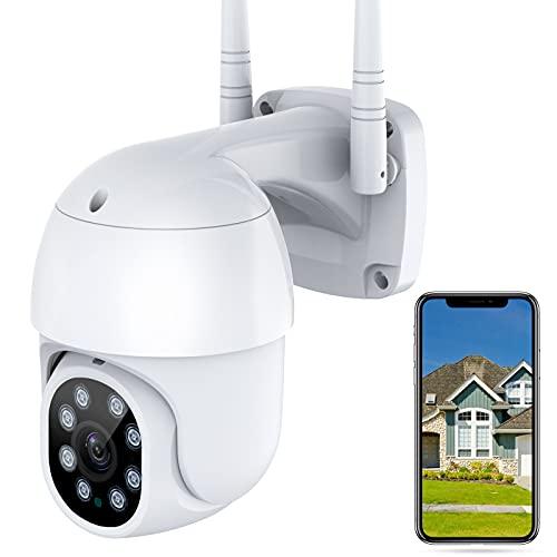 Cozime Cámara IP WiFi 1080P para Exteriores,Cámara de Vigilancia con Visión Nocturna,Seguimiento Móvil,Audio bidireccional, Almacenamiento en la nube, Compatible con iOS Android PC