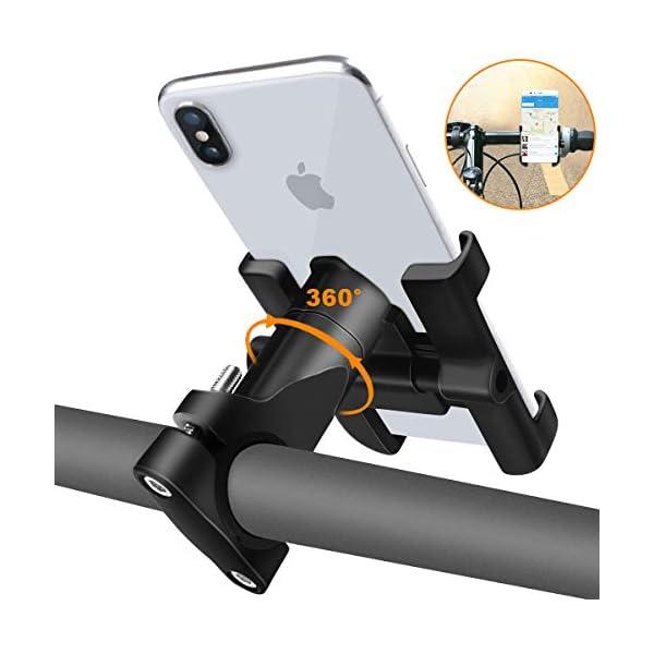 Support-Tlphone-Vlo-Support-Bicyclette-Moto-de-Guidon-en-Alliage-daluminium-Support-de-Tlphone-pour-Vlos-avec-Rotation–360-Degrs-Compatible-avec-40-65-Pouces-Smartphones-black