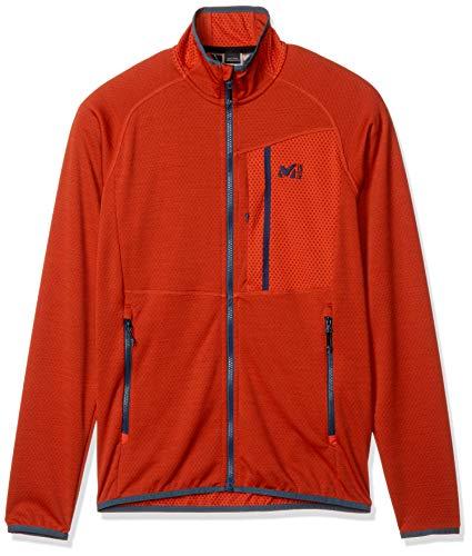 Millet - Lokka JKT M - Leichte Fleece-Jacke für Herren - Atmungsaktiv - Bergsteigen, Wandern, Trekking, Lifestyle - Rot