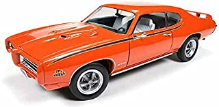 Motor Max New 1:24 W/B American Classics Collection - Orange 1969 Pontiac GTO Judge Diecast Model Car