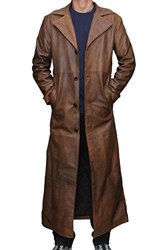 Batman elegante lungo Knightmare vera pelle cappotto Brown XXX-Large