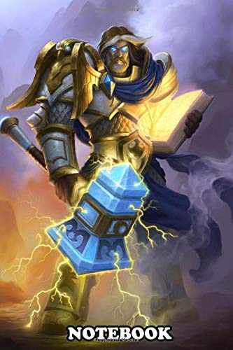 Notebook: Uther The Lightbringer , Journal for Writing, College Ruled Size 6' x 9', 110 Pages