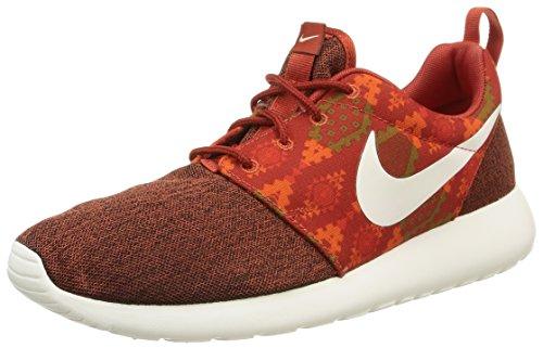 Nike Herren, Sportschuhe, Roshe one Print, orange (Cinnabar/sail-hay-total orange), 42.5