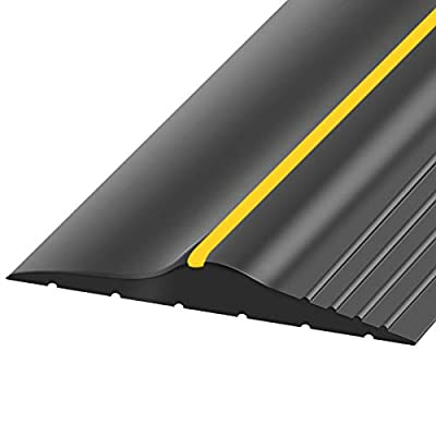 Weatherproof Universal Garage Door Bottom Threshold Seal Strip DIY Weather Stripping Replacement?Not Include Sealant/Adhesive (16Ft)
