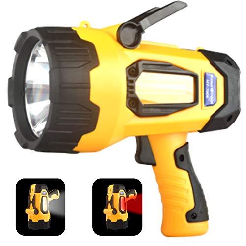 Rechargeable LED Spotlights Flashlights High Lumens, 4400 mAh 20h Ultra-long Standby, Searchlights Handheld Spotlights Flashlights for Boating