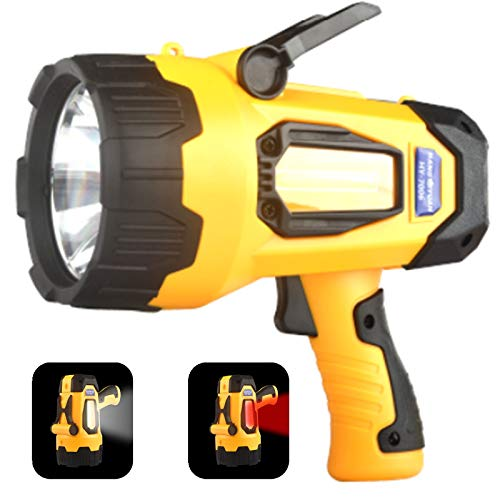 Rechargeable LED Spotlight Flashlights High Lumens, 4400 mAh 20h Ultra-long Standby, Searchlight Handheld Spotlight Flashlights for Boating