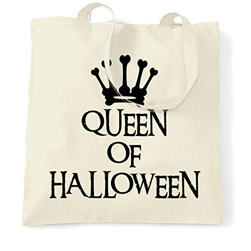 Tim And Ted Neuheit Spooky Tragetasche Queen Of Halloween Crown Natural One Size