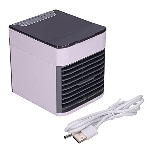 DFKEA Mini Ventilatore del condizionatore d'Aria del Dispositivo di Raffreddamento dell'Aria Purificatore dell'umidificatore Alimentato Tramite USB Adatto per la casa dell'ufficio dell'auto