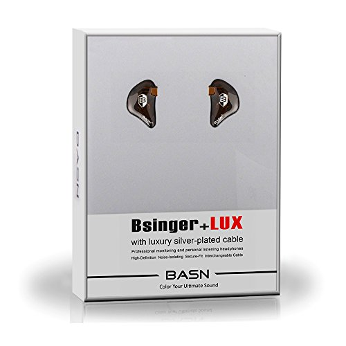BASN Bsinger Lux in Ear Monitor Headphone Universal Fit Noise Cancelling Earphone for Musician Singer Band Studio Audiophile