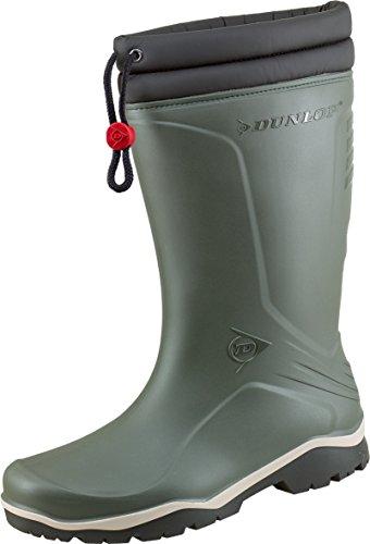 Dunlop Blizzard gefütterte Herren Gummistiefel, Grün (Green/Grey/Black ), 46 EU