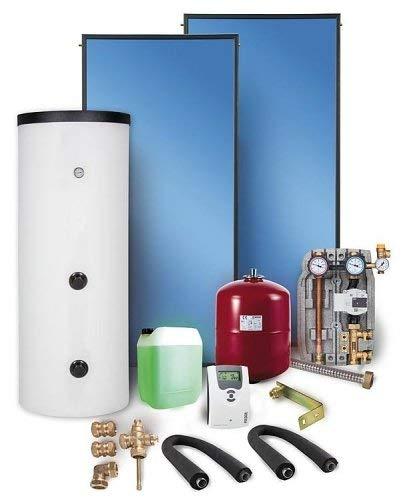 Solaranlage Komplettpaket Warmwasser Flachkollektoren 7,53m² Solarspeicher 400 l Solar