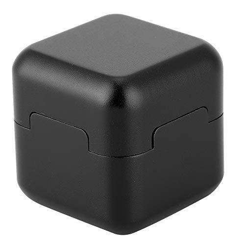 Alomejor Billard Pool Kreidehalter Kreideträger Mini Cute Square Box Kreidehalter Billard Zubehör(Schwatz)