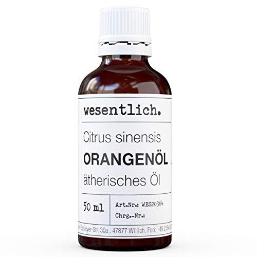 wesentlich. Orangenöl - ätherisches Öl - 100% naturrein (Glasflasche) - u.a. für Duftlampe und Diffuser (50ml)