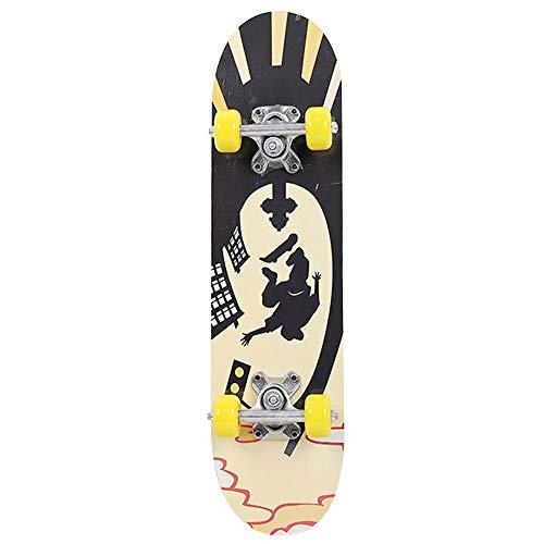 Anyutai 61 cm Skateboard complet en bois d'érable pour adultes débutants filles garçons