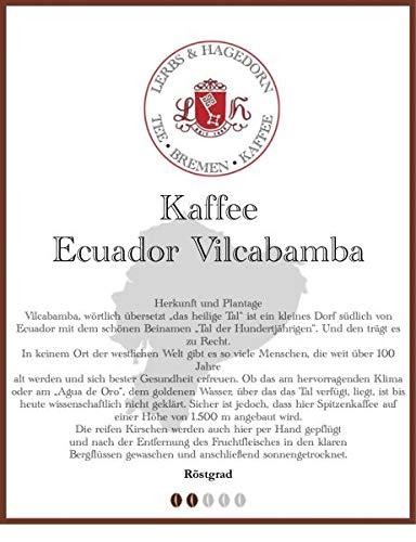 Ecuador Vilcabamba Kaffee 1kg