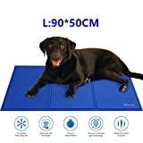 Lauva Dog Cool Mat Bed Large Size, Pet Self Cooling Mat Non-Toxic Gel