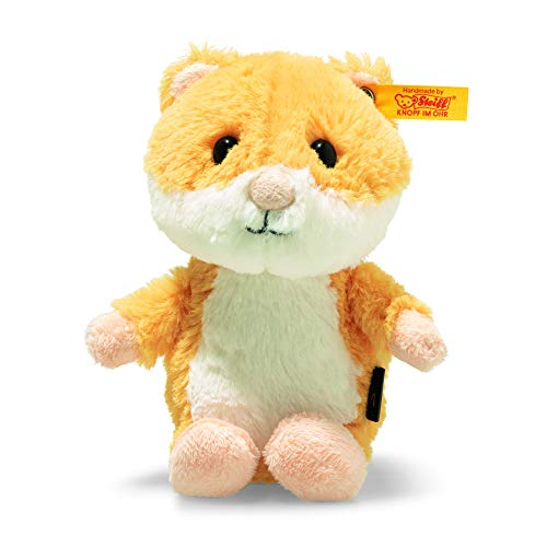 Steiff 73816 Soft Cuddly Friends Happy Hamster, goldgelb/weiß
